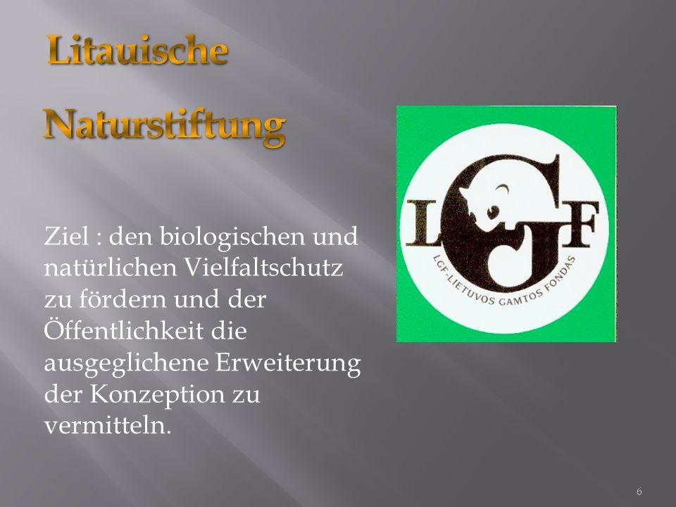 Stützt den öffentlichen und privaten Sektor, beim Realisieren der Umweltschutzprojekte. 7