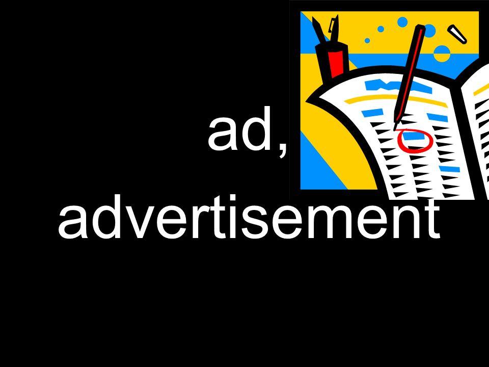 ad, advertisement