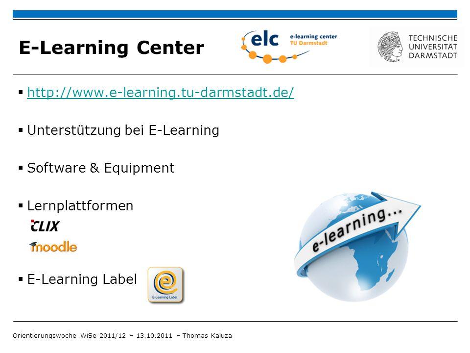 E-Learning am Institut für Psychologie E-Learning Beauftragter B.Sc.-Psych.