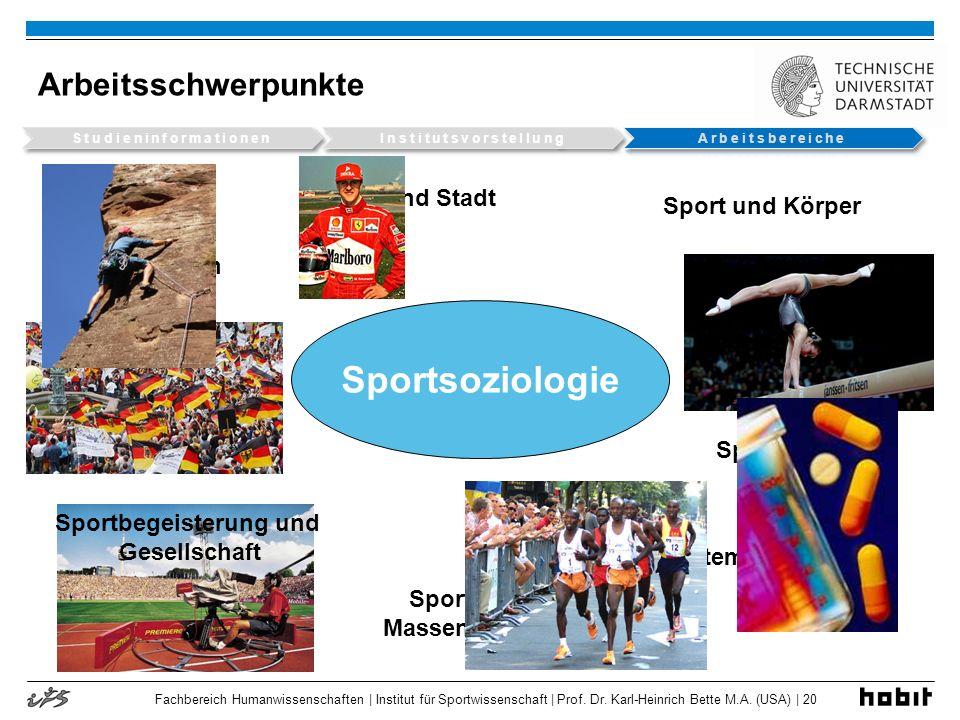 Fachbereich Humanwissenschaften | Institut für Sportwissenschaft | Prof. Dr. Karl-Heinrich Bette M.A. (USA) | 20 Arbeitsschwerpunkte Sportsoziologie S