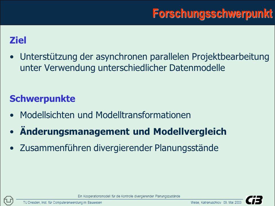 TU Dresden, Inst.für Computeranwendung im Bauwesen Weise, Katranuschkov 09.