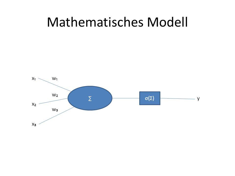 Mathematisches Modell x x x w w w σ(Σ)σ(Σ) y
