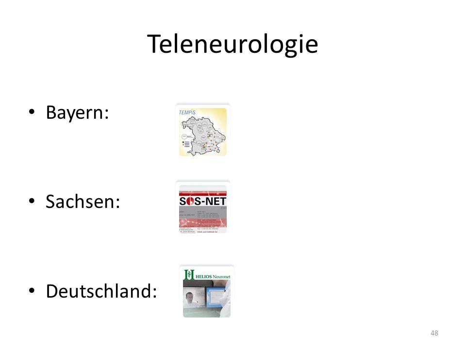 Teleneurologie Bayern: Sachsen: Deutschland: 48