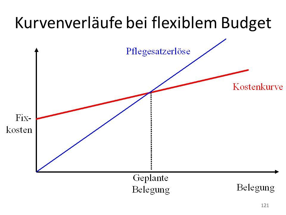 Kurvenverläufe bei flexiblem Budget 121