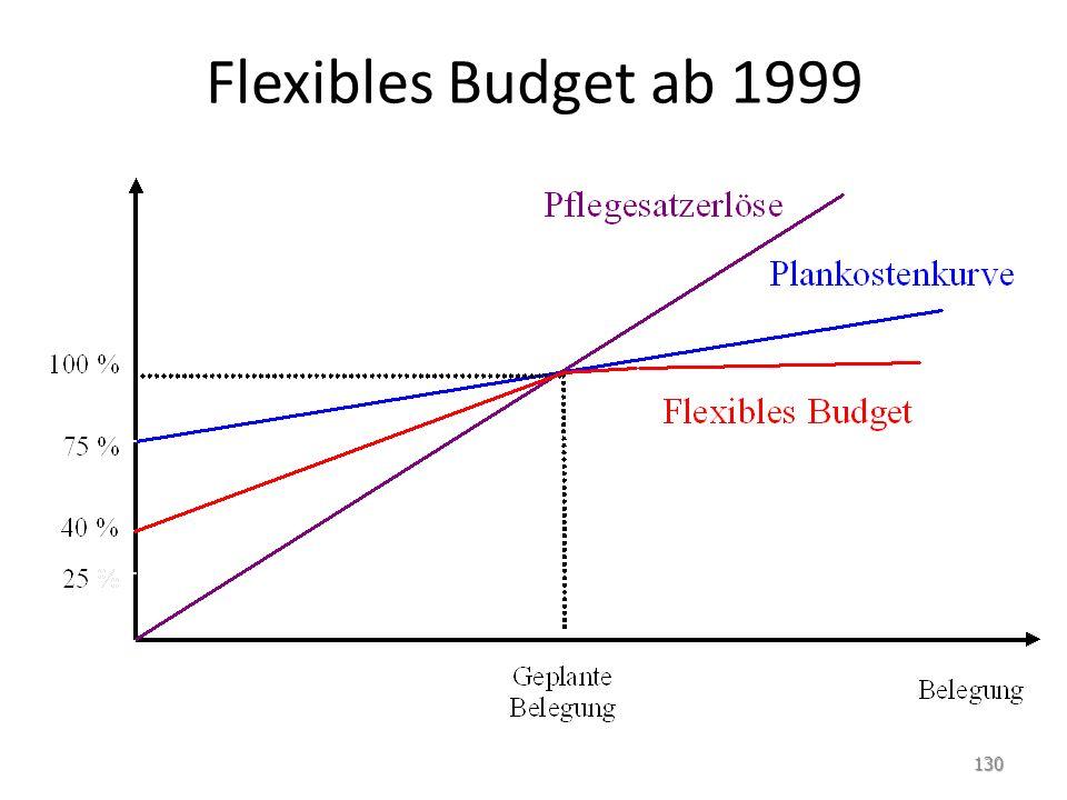 Flexibles Budget ab 1999 130