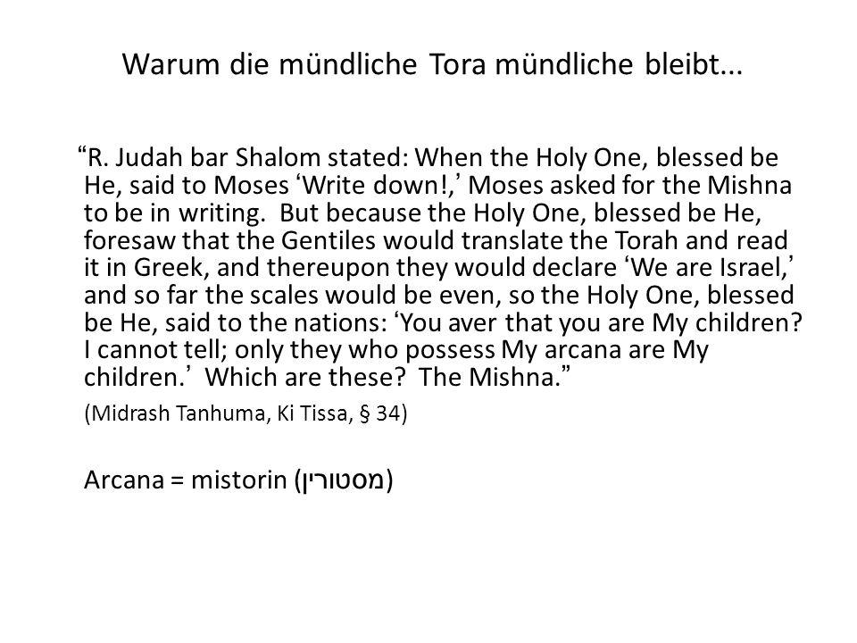 Kabbalah Der Wurzel קבל = empfangen Kabbalah ( קבלה ) = das Empfangene (oder Überlieferung) Die Kabbalah ist auch bekannt als: Torat ha-Sod ( תורת הסוד ) Hochma Nistara ( חכמה נסתרה )