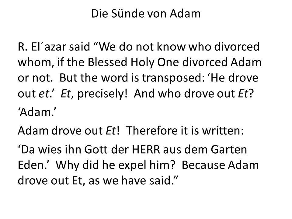 Die Sünde von Adam R.
