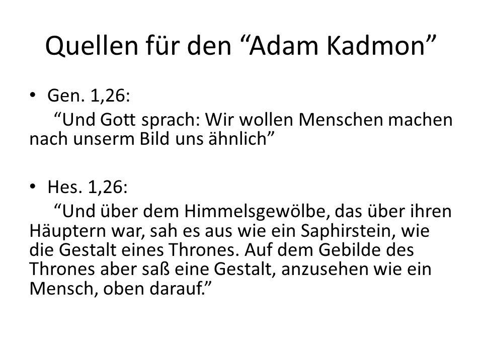 Quellen für den Adam Kadmon Gen.