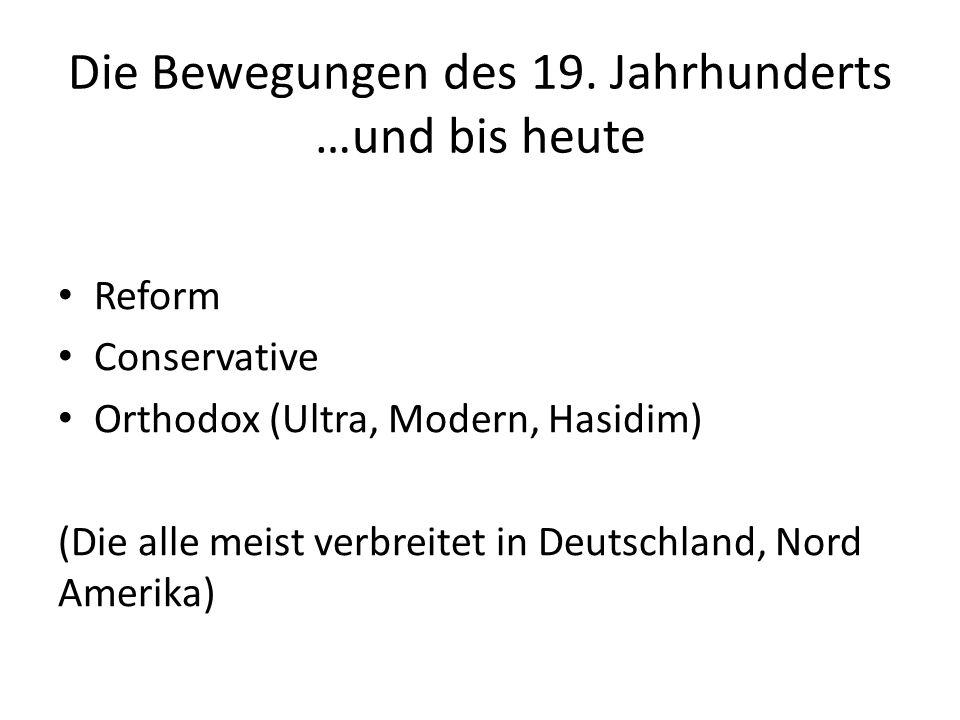 Die Bewegungen des 19.
