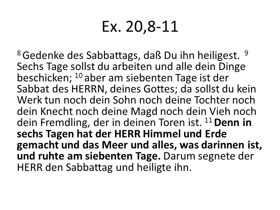 Aus Abraham J.Heschel (1907-1972), Der Sabbat Aus dem Prolog (S.