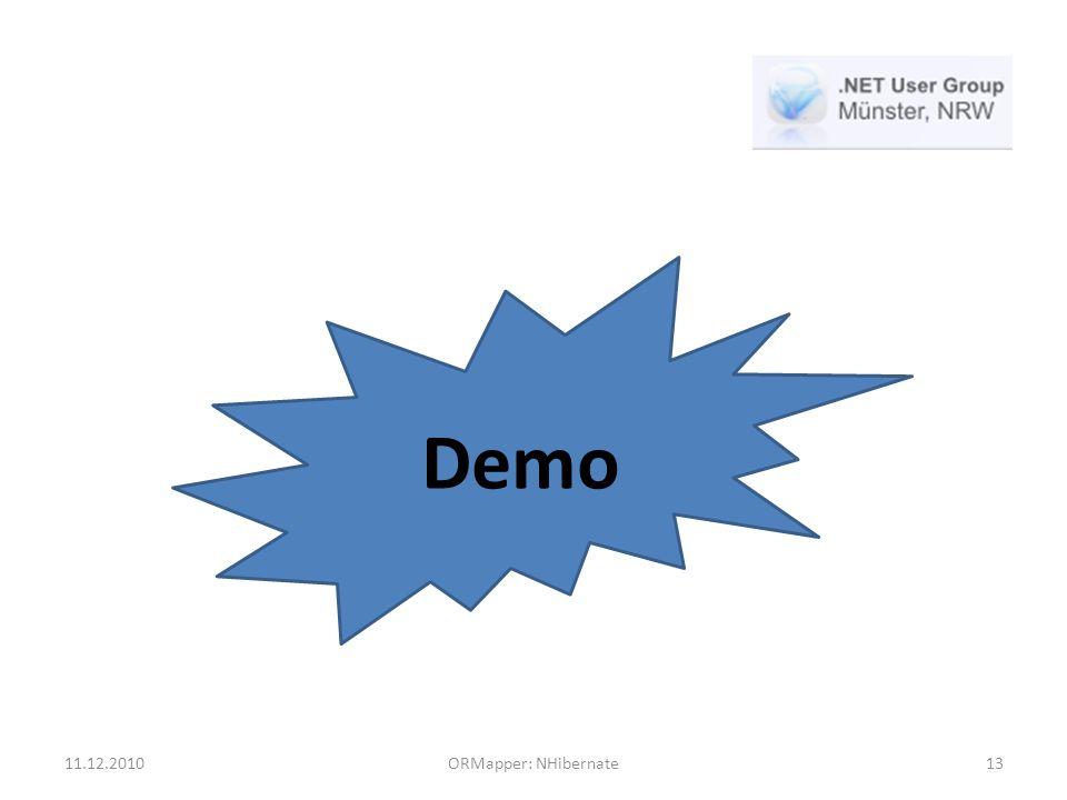11.12.2010ORMapper: NHibernate13 Demo