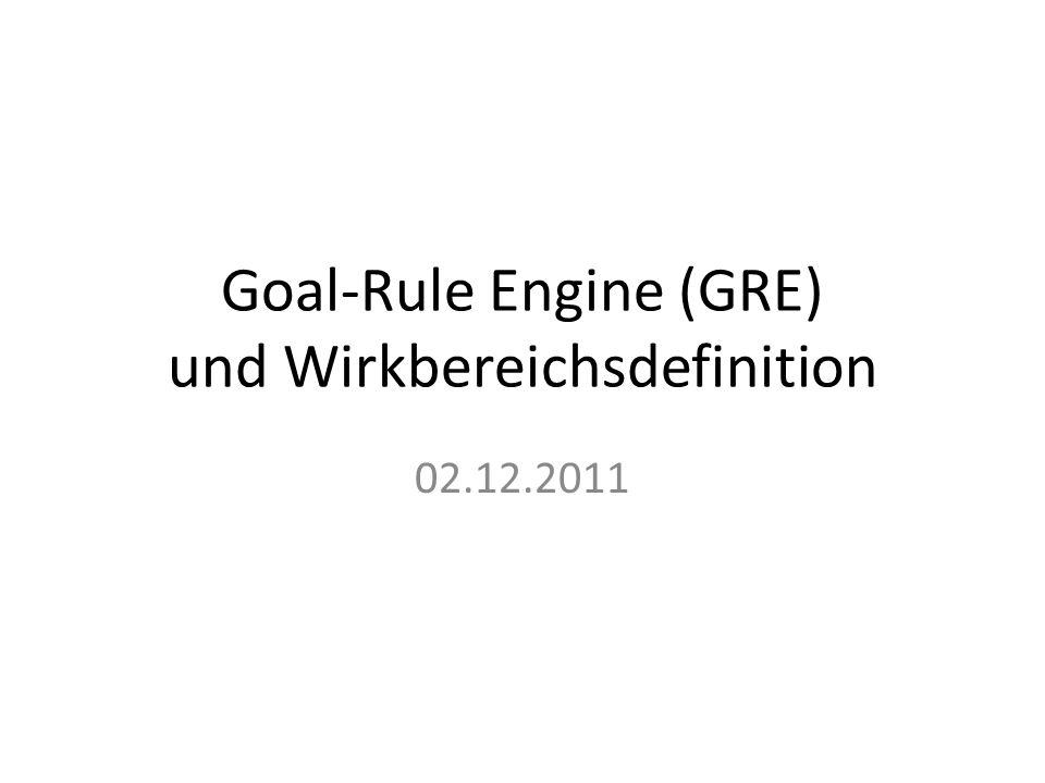 Goal-Rule Engine (GRE) und Wirkbereichsdefinition 02.12.2011