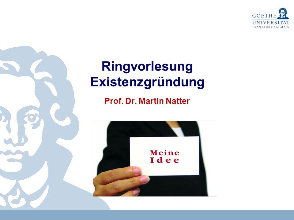 1 Kontakt Prof.Dr. Martin Natter Strothoff-Stiftungsprofessur für BWL, insbes.
