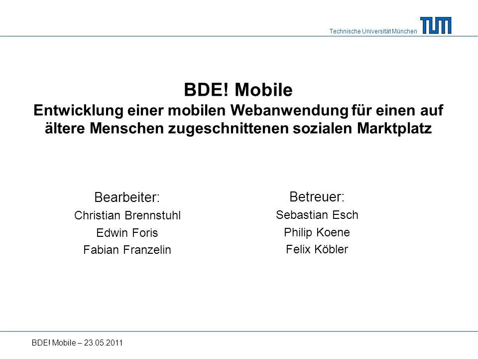 Technische Universität München BDE.