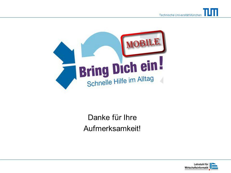 Technische Universität München Danke für Ihre Aufmerksamkeit!
