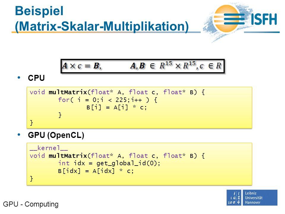 Optimierung GPU - Computing