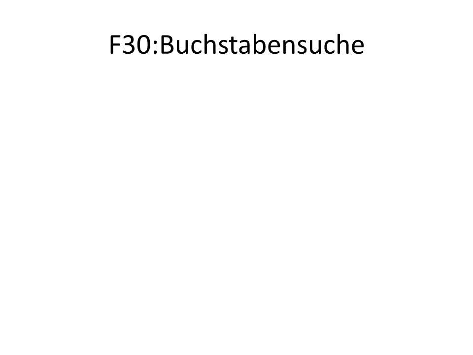 F30:Buchstabensuche
