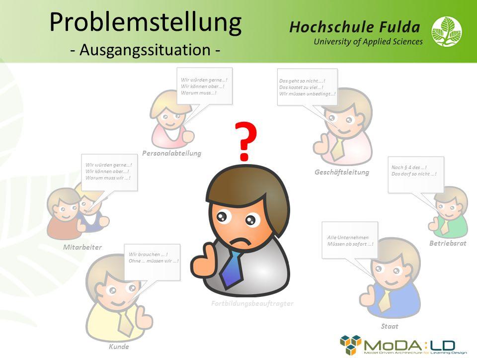 Herr Kräbl Fortbildungsbeauftragter Problemstellung - Ausgangssituation - Mitarbeiter Wir würden gerne….