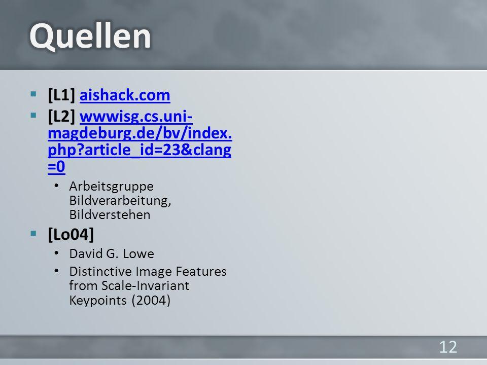 [L1] aishack.comaishack.com [L2] wwwisg.cs.uni- magdeburg.de/bv/index.