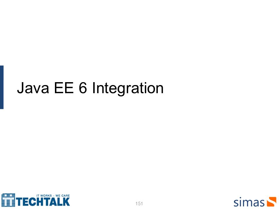 151 Java EE 6 Integration