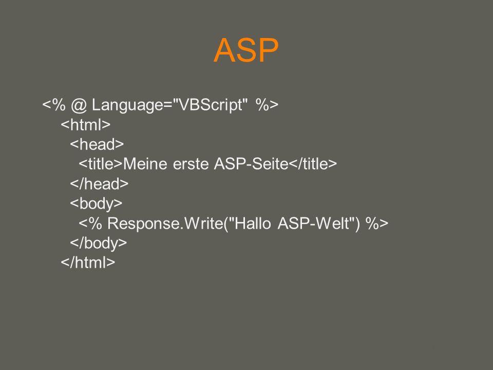 your name ASP Meine erste ASP-Seite