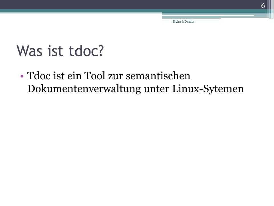 Was ist tdoc.