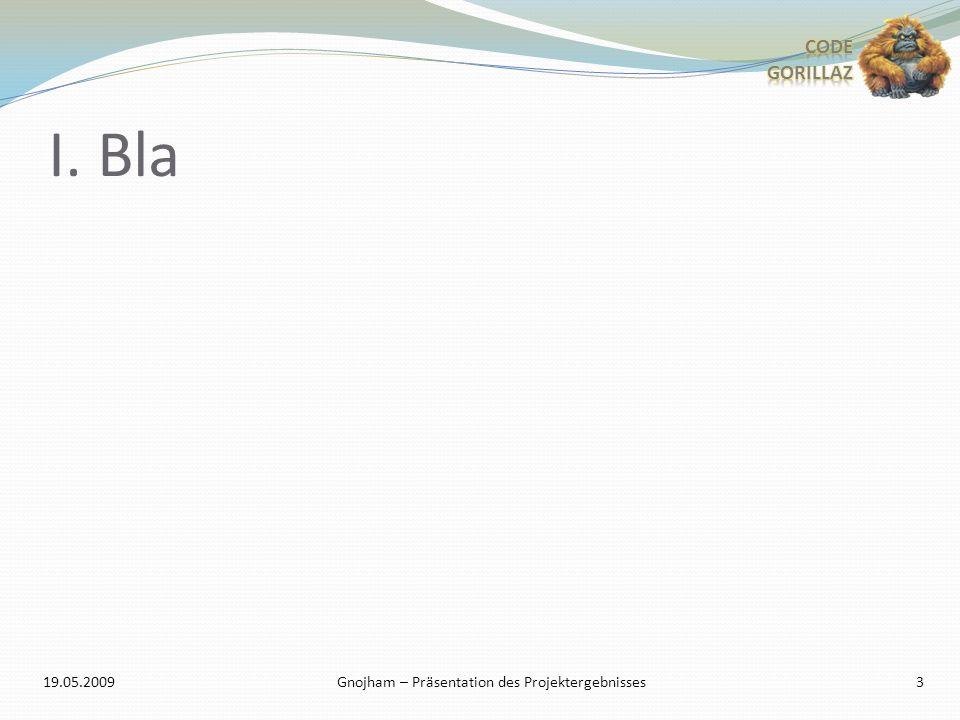 I. Bla 3 Gnojham – Präsentation des Projektergebnisses19.05.2009