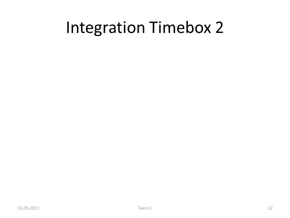 Integration Timebox 2 10.06.2011Team C12