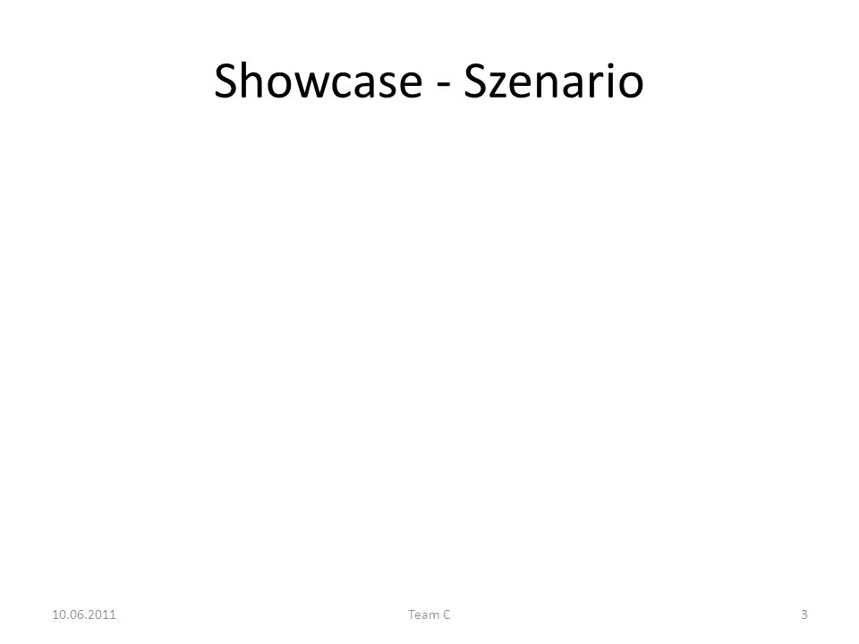 Showcase - Szenario 10.06.2011Team C3