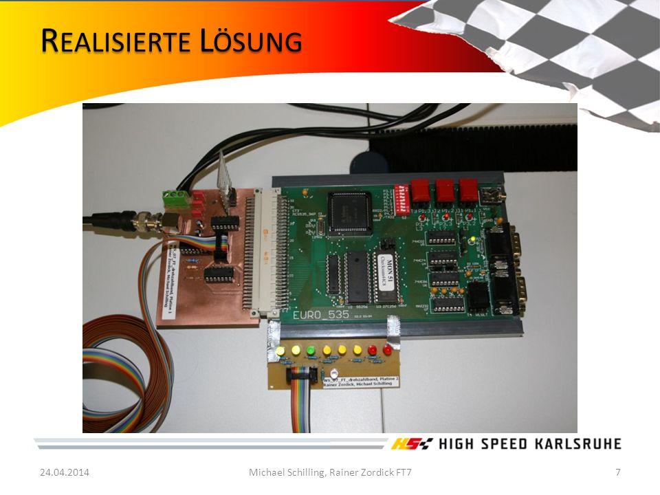 Volkscontroller2-Platine verwenden Mehr LEDs verwenden für größeren Drehzahlbereich Schaltblitz mit Motorkennfeld abstimmen Schutz vor Umwelteinflüssen (Gehäuse) zwei separate Eingänge, einmal für Funktionsgenerator (8V PP ) und einmal für Steuergerät (12V PP ) 24.04.2014Michael Schilling, Rainer Zordick FT78