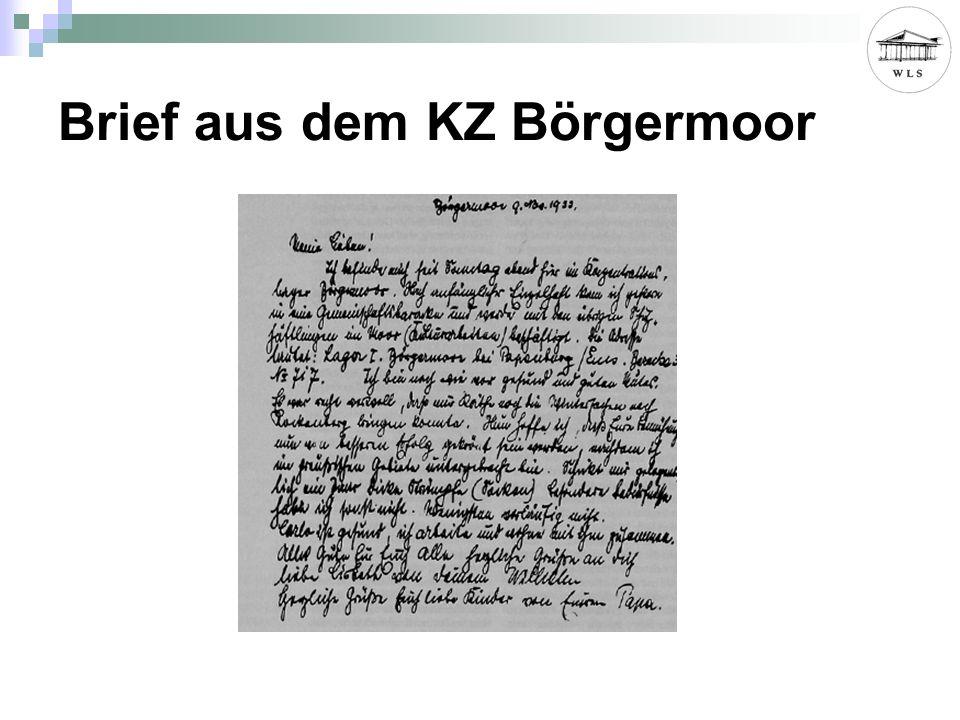Brief aus dem KZ Börgermoor
