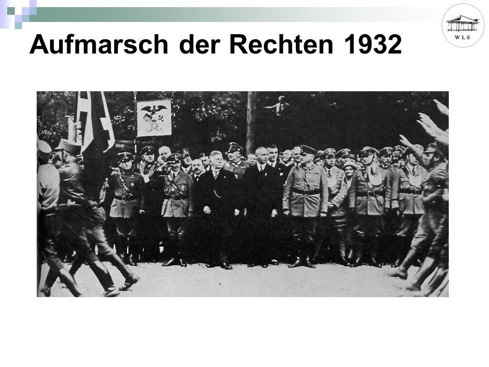 Aufmarsch der Rechten 1932