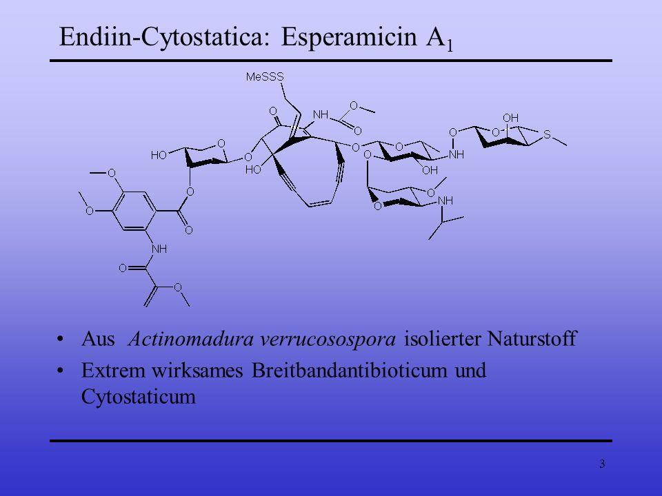 3 Endiin-Cytostatica: Esperamicin A 1 Aus Actinomadura verrucosospora isolierter Naturstoff Extrem wirksames Breitbandantibioticum und Cytostaticum
