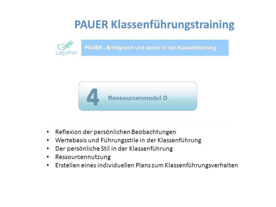 Angebot für Junglehrer und Wiedereinsteiger an der Schulberatung Oberbayern West (alle 4 Module) ab Herbst Angebote in einzelnen Landkreisen in verkürzter Form (2 Nachmittage, Methodenmodule A und B) PAUER Klassenführungstraining