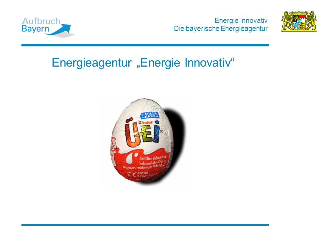 Energie Innovativ Die bayerische Energieagentur Energieagentur Energie Innovativ