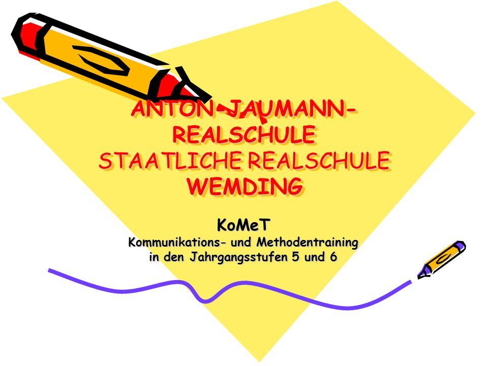 Präambel Die Anton-Jaumann-Realschule Wemding hat sich zum Ziel gesetzt die Schülerinnen und Schüler in den Jahrgangsstufen 5 und 6 über den Unterricht hinaus altersgemäß zu fördern.