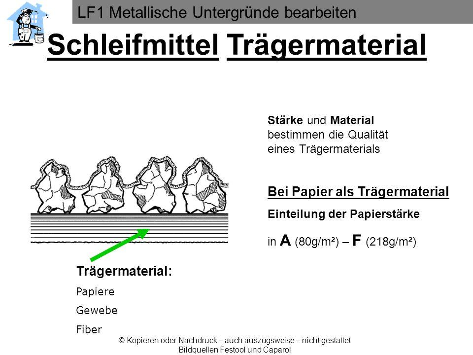 LF1 Metallische Untergründe bearbeiten © Kopieren oder Nachdruck – auch auszugsweise – nicht gestattet Bildquellen Festool und Caparol Trägermaterial: