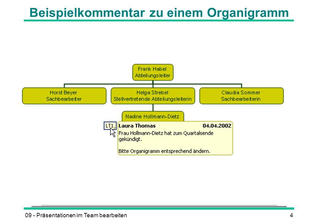 09 - Präsentationen im Team bearbeiten4 Beispielkommentar zu einem Organigramm