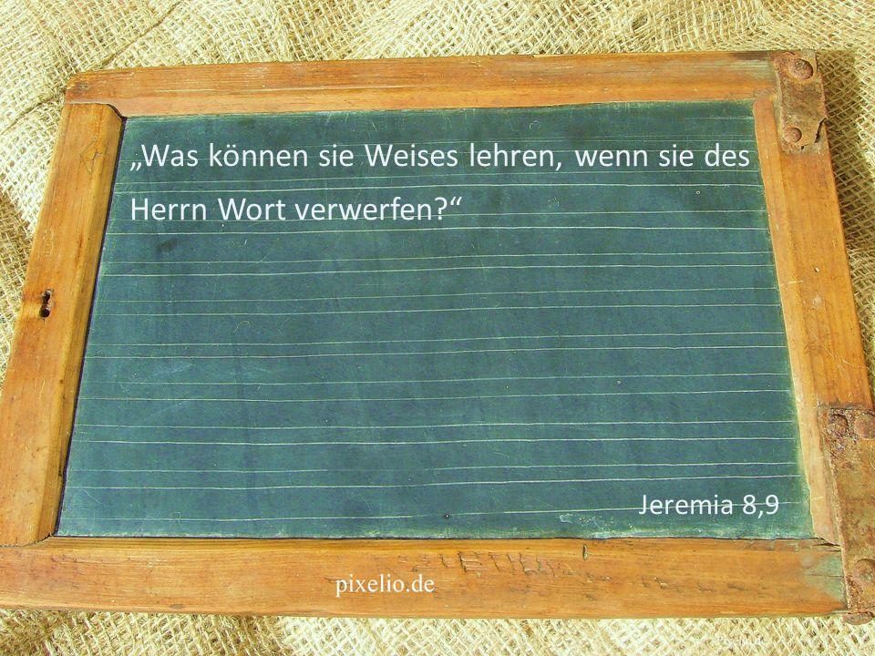 Was können sie Weises lehren, wenn sie des Herrn Wort verwerfen? Jeremia 8,9