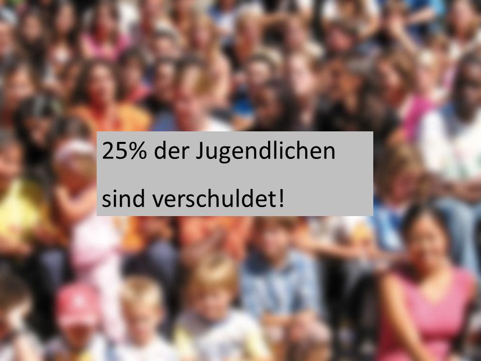 25% der Jugendlichen sind verschuldet!