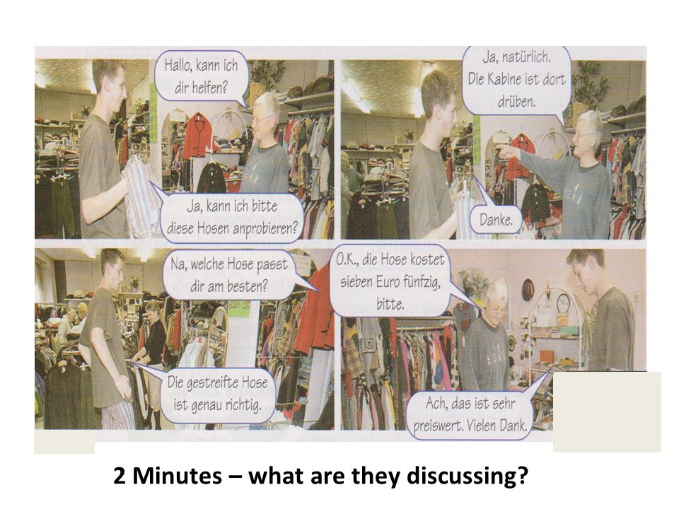 2 Minutes – what are they discussing?