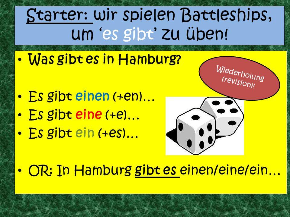 Starter: wir spielen Battleships, um es gibt zu üben.