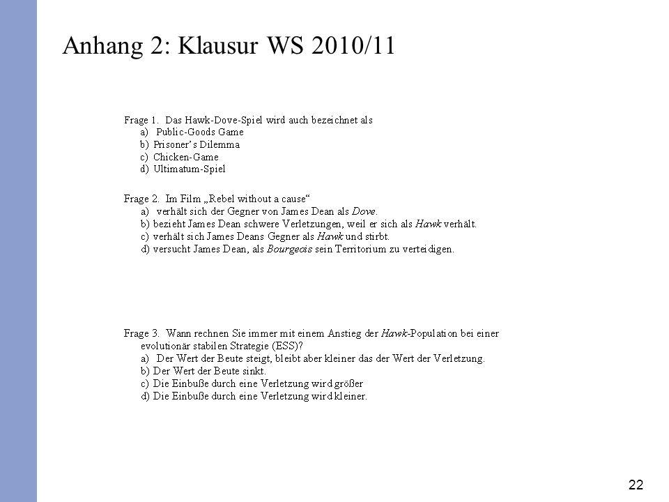 22 Anhang 2: Klausur WS 2010/11