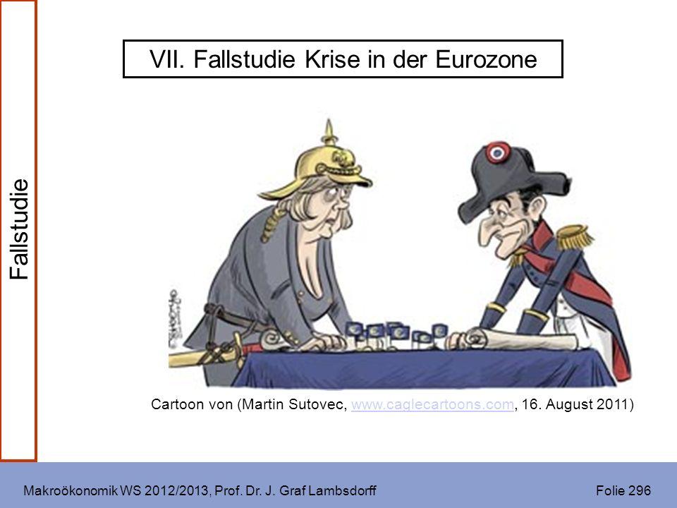 Makroökonomik WS 2012/2013, Prof. Dr. J. Graf Lambsdorff Folie 296 VII. Fallstudie Krise in der Eurozone Cartoon von (Martin Sutovec, www.caglecartoon
