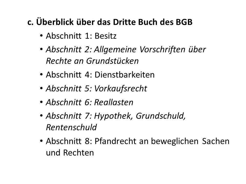 5.Das Sachenrecht und das Öffentliche Recht a.Der verfassungsrechtliche Eigentumsbegriff: Art.