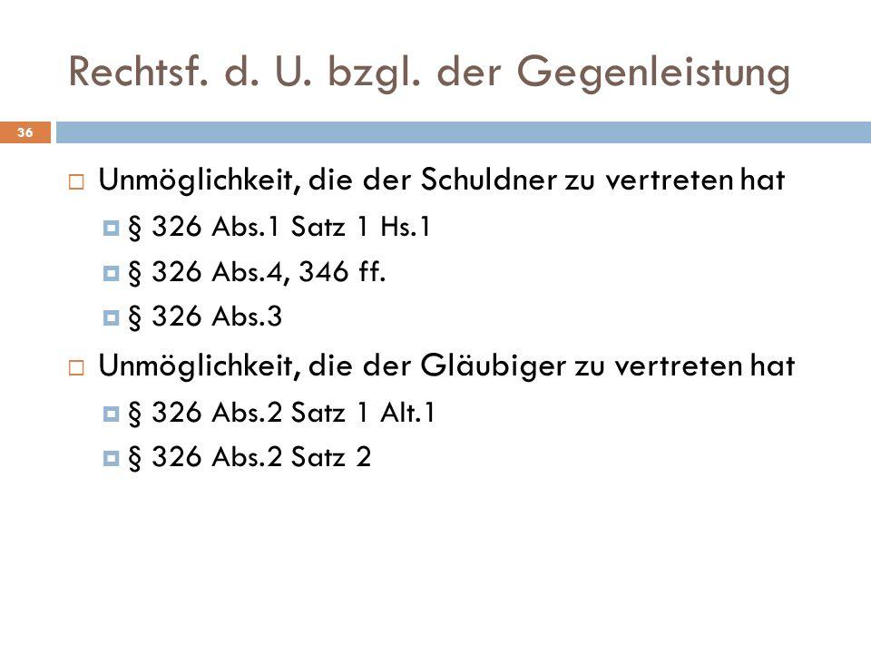Rechtsf.d. U. bzgl.