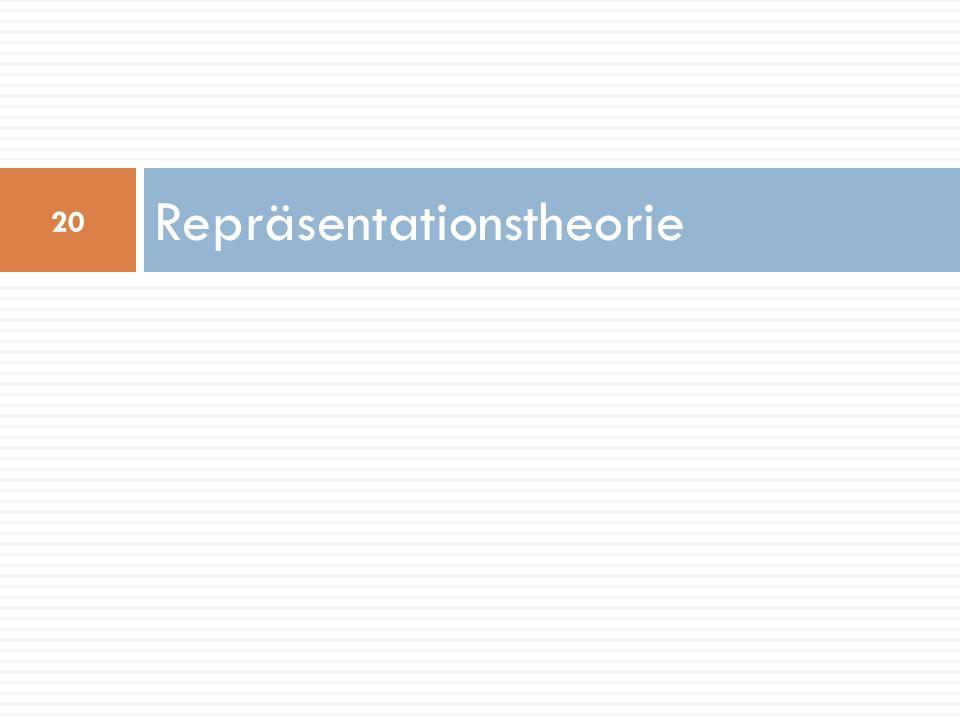 Repräsentationstheorie 20
