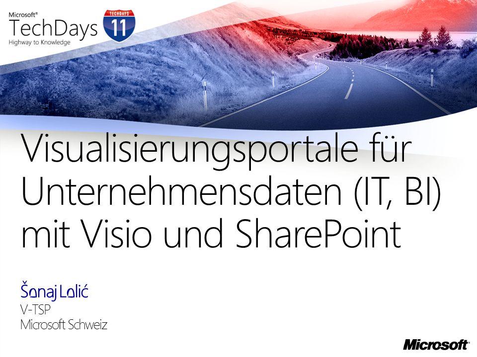 Šenaj Lelić V-TSP Microsoft Schweiz Visualisierungsportale für Unternehmensdaten (IT, BI) mit Visio und SharePoint