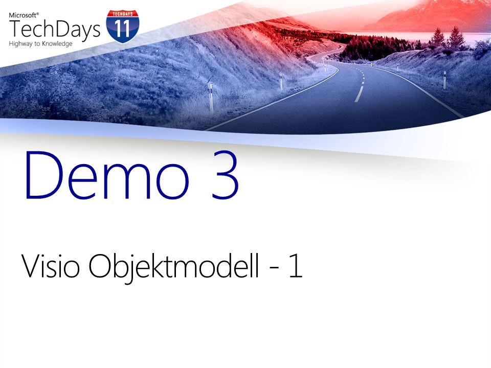 Visio Objektmodell - 1 Demo 3