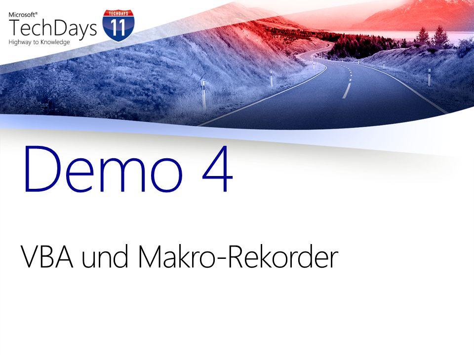 VBA und Makro-Rekorder Demo 4